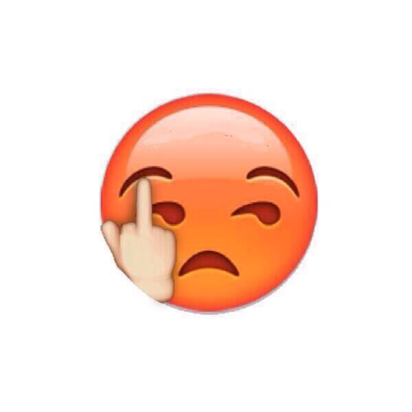Emoji giving the middle finger  | Ha Ha Ha! | Angry emoji