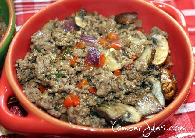 Add beef vegetable to crock