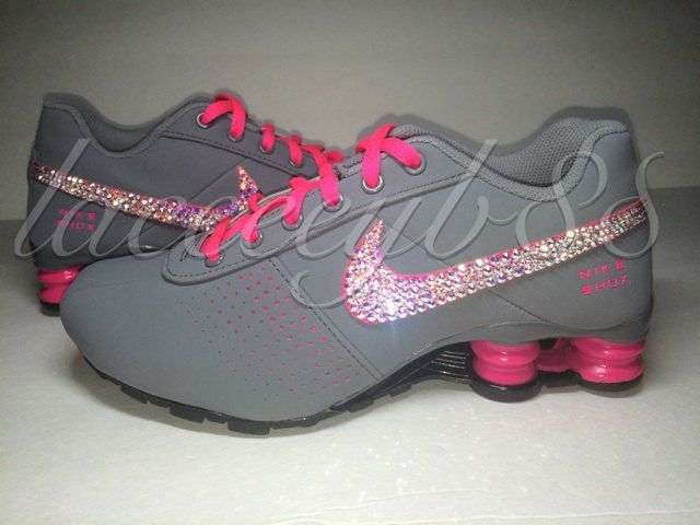 buy popular 3c28f d7709 Bling Swarovski Nike Shox Deliver-Girls by laceeeyb88 on Etsy
