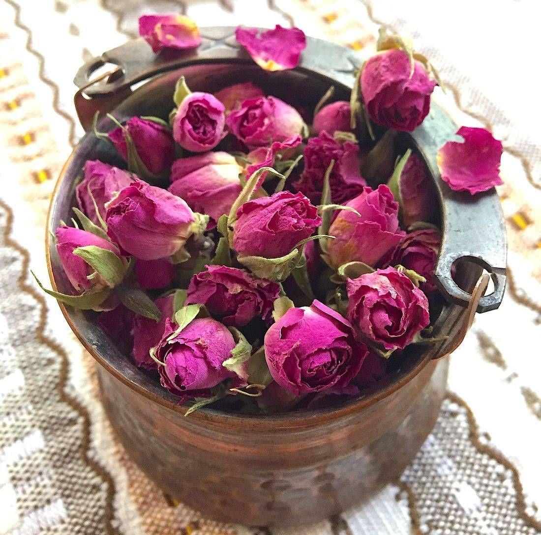 Organic Rosa Damascena Buds Flower Festival Rose Petals Herbal Teas Recipes