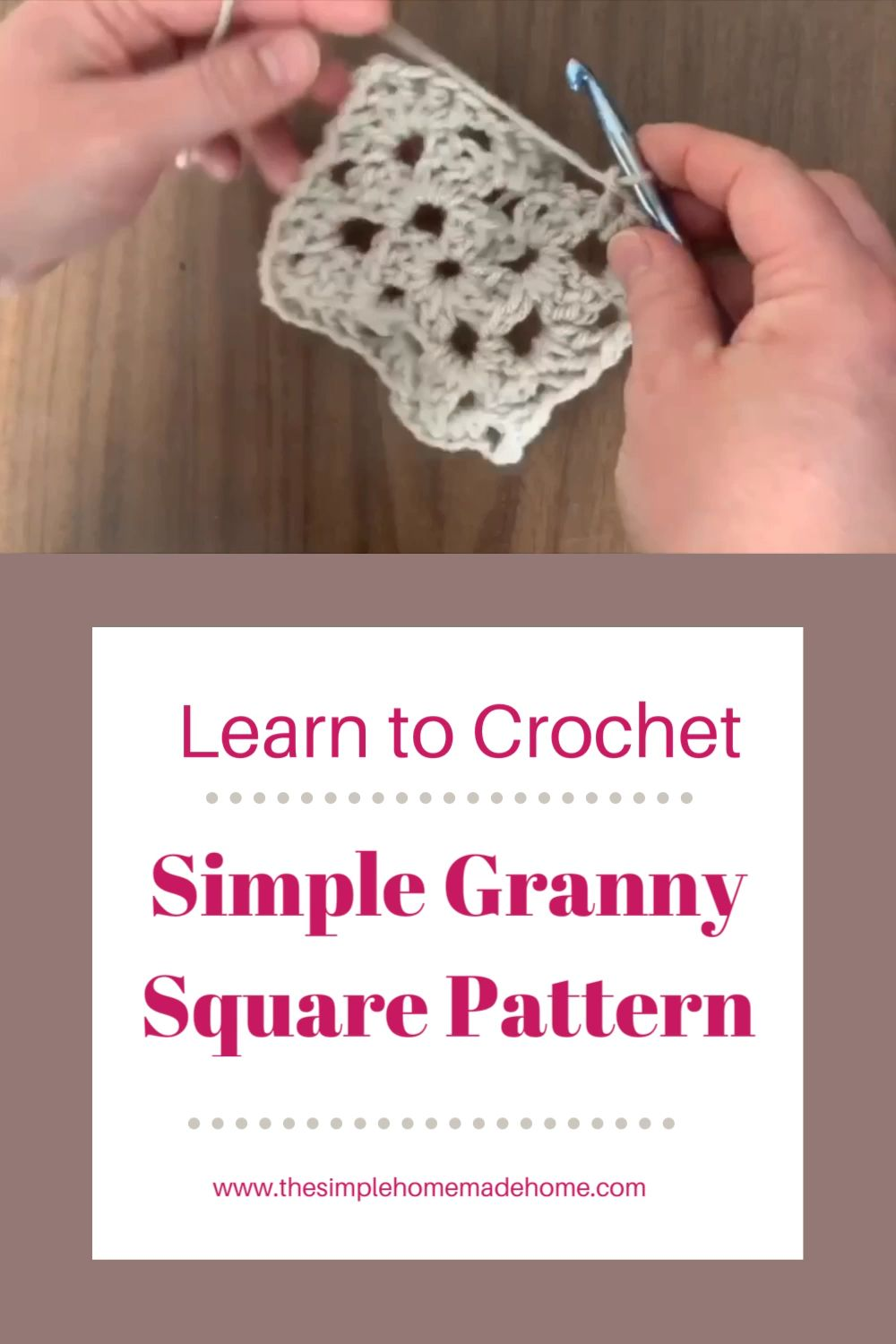 Photo of LEARN TO CROCHET| Simple granny square pattern-Free!