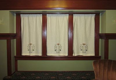 Craftsman Stenciled Curtains Rugs