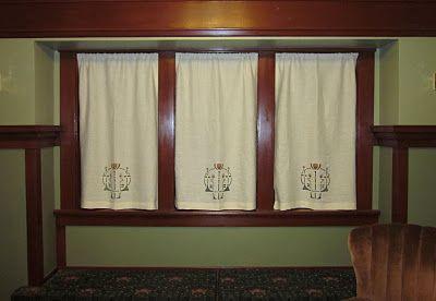 Craftsman Stenciled Curtains