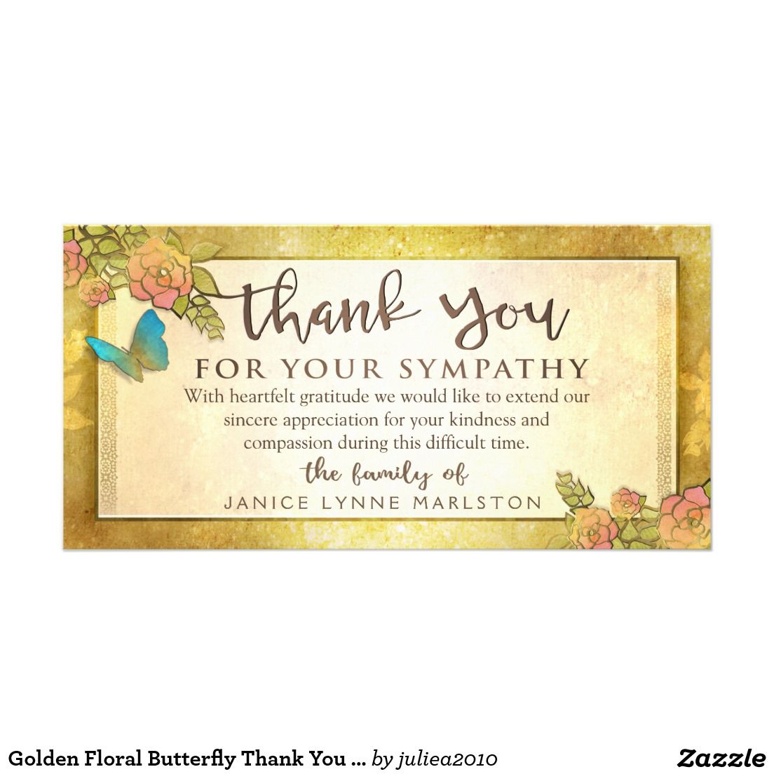Create Your Own Photo Card Zazzle Com With Images Sympathy