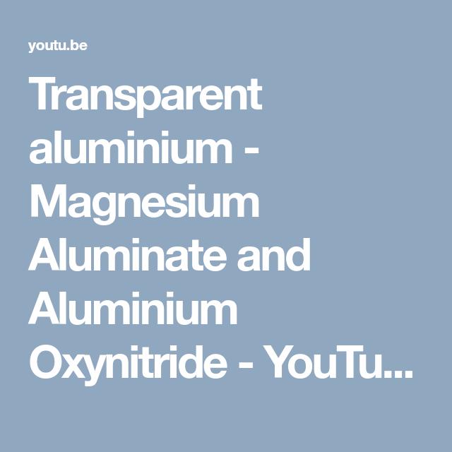 transparent aluminium magnesium aluminate