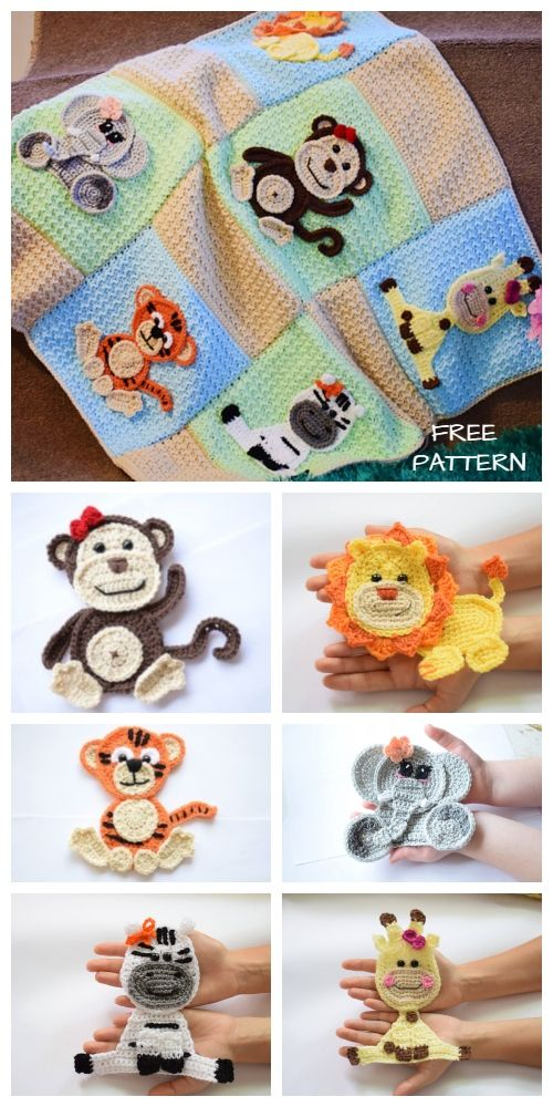 Jungle friends Blanket Free Crochet Patterns - DIY Magazine