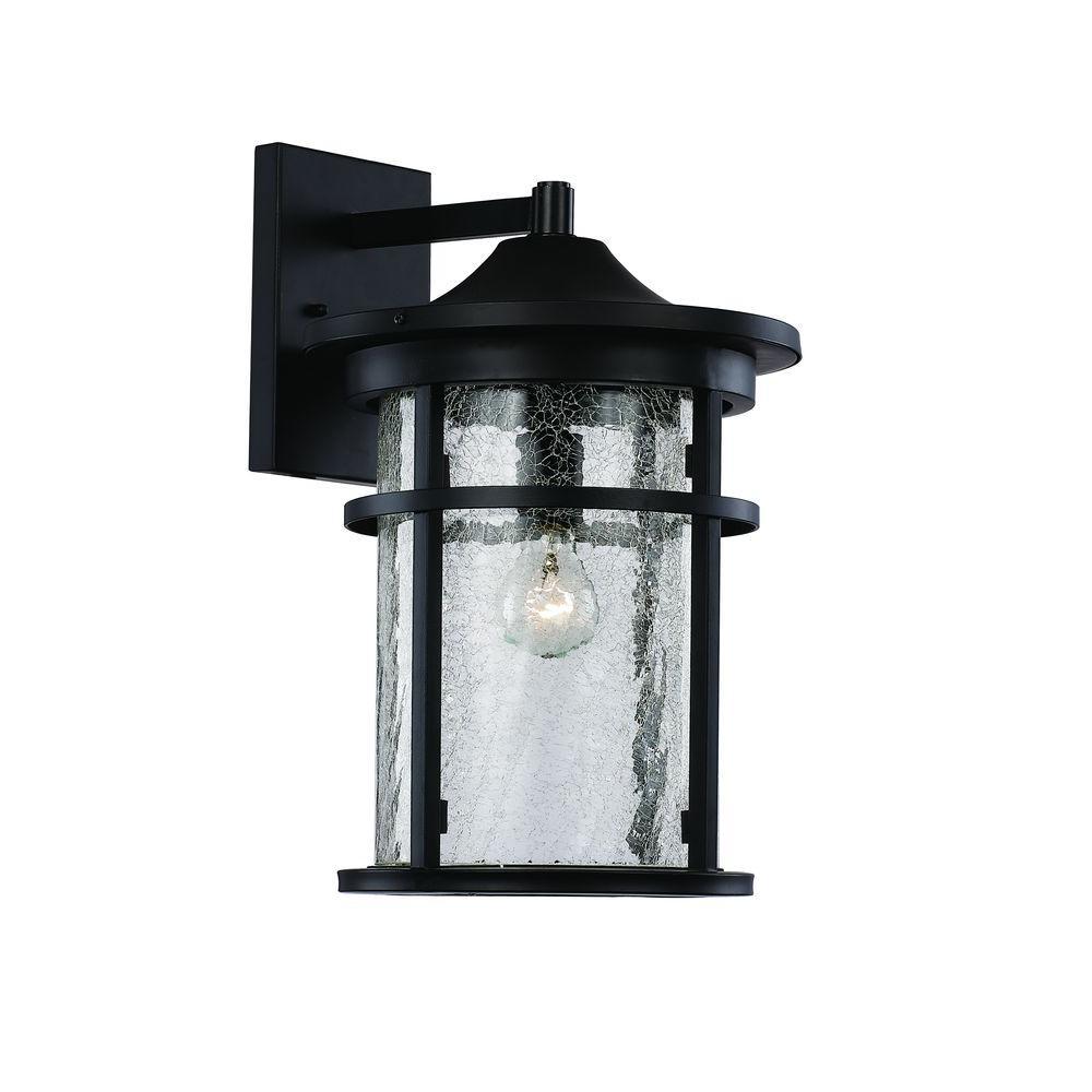 Bel Air Lighting 1 Light Black Outdoor Led Wall
