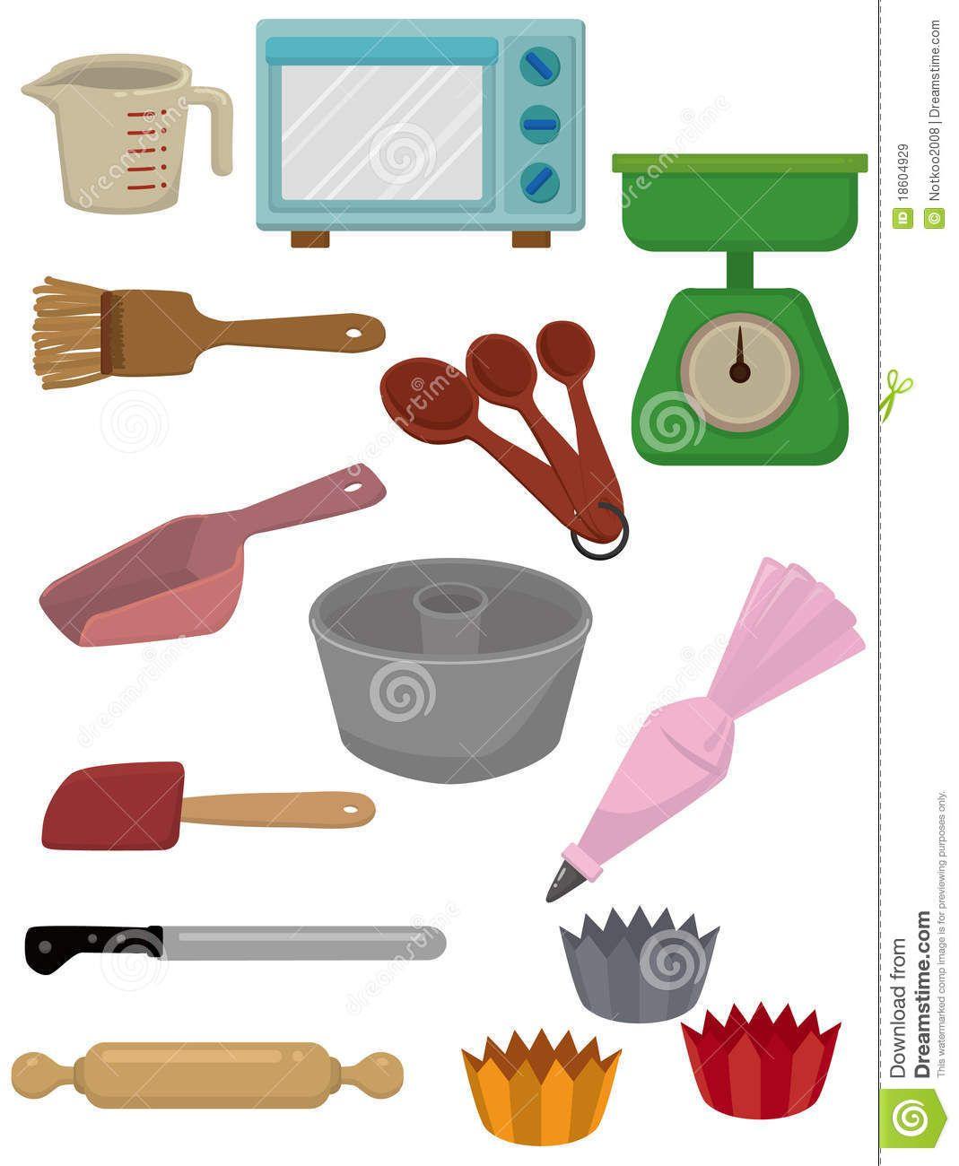 Conjunto de iconos de dibujos animados. Cocina y panader[ia ...