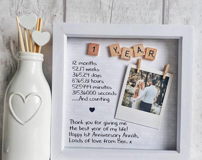 Anniversary Gift Wedding Gift Personalised Frame Scrabble | Etsy