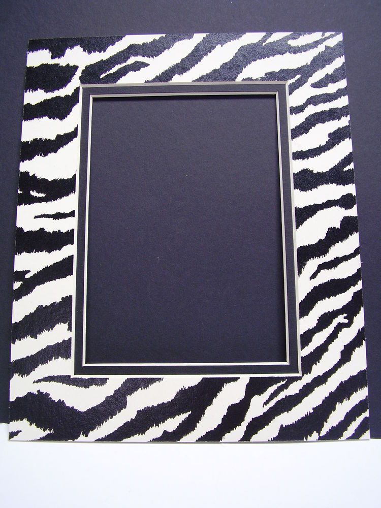 Picture Mat Zebra Black White 16x20 For 11x14 Photo Animal Print Double Mat Picture Frame Mat Frame Matting Matting Pictures