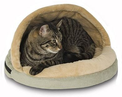 thermo hut heated cat bed  heated cat bed cat aesthetic