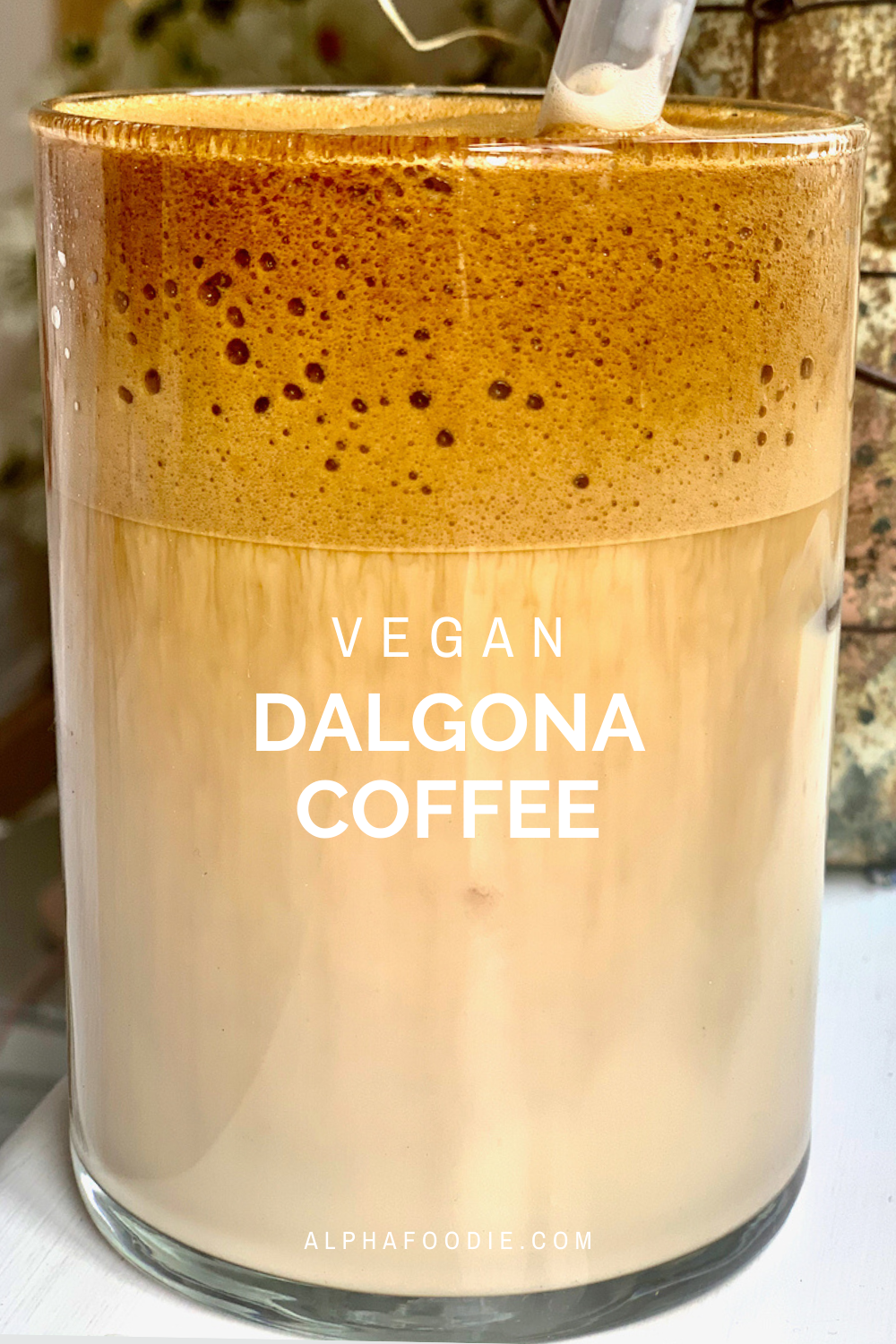 Simple Homemade Frothy Dalgona Latte (whipped coffee