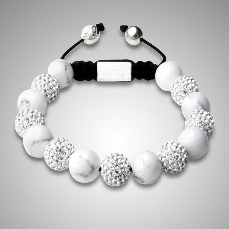 Multi Color Shamballa Beads White Clay Beads Charm String ...