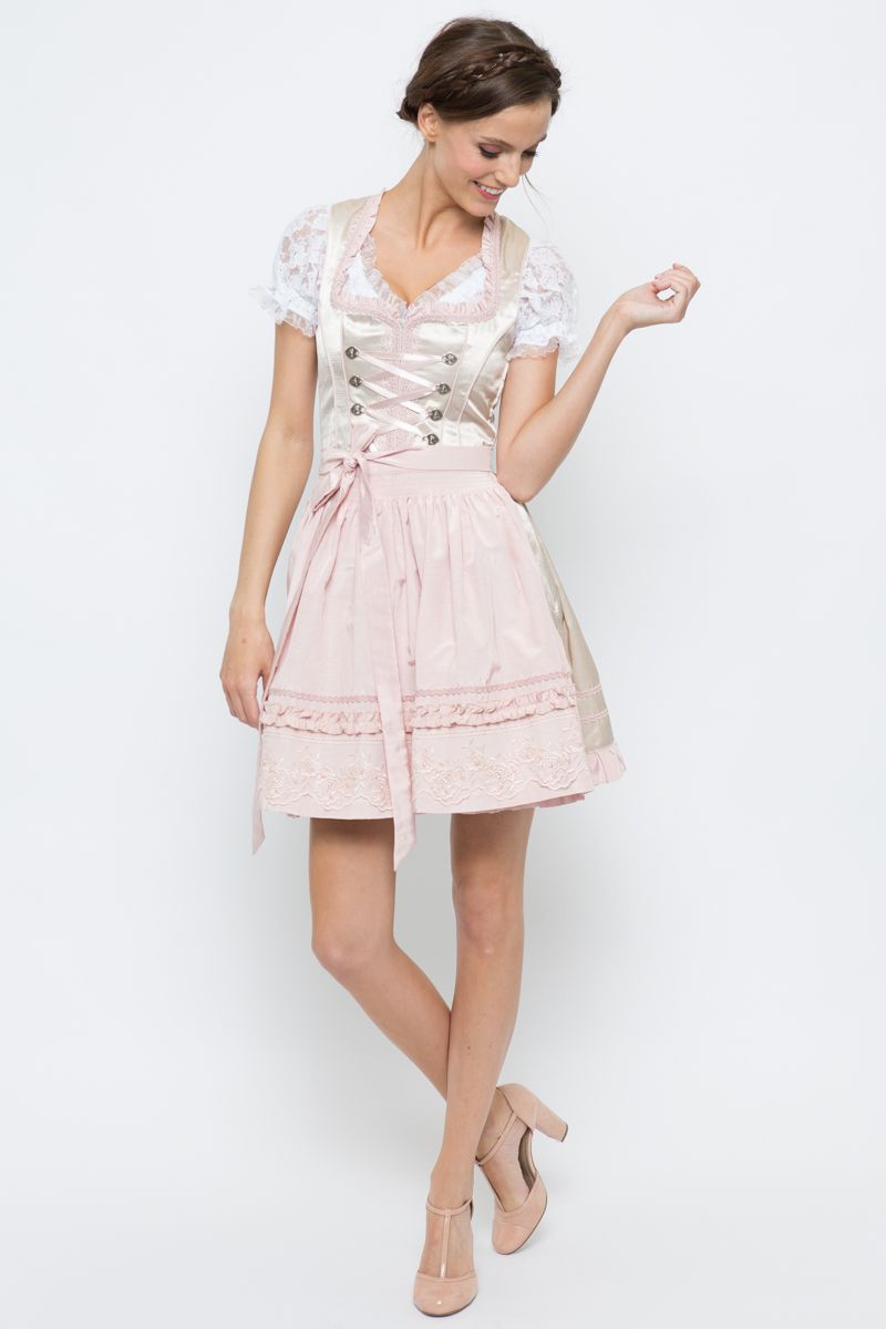6a18f7897d308d Mini Dirndl Rena, beige/rosa | Bergweiss | online bestellen | Ludwig &  Therese