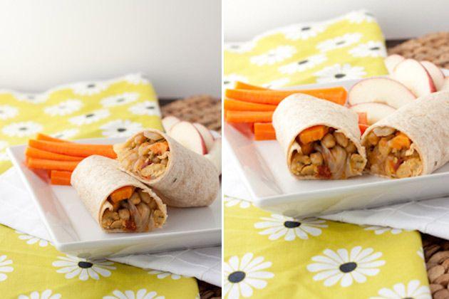Rosemary Chickpea and Sweet Potato Burritos