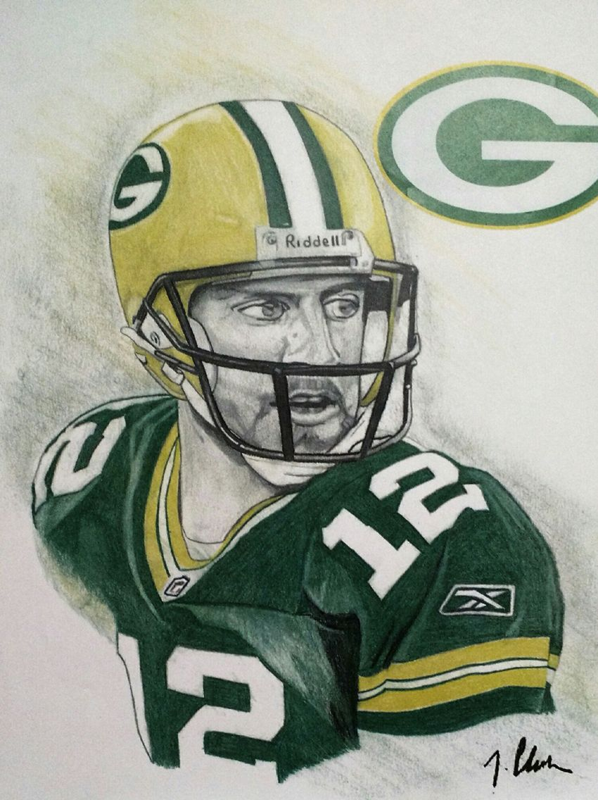 Aaron Rodgers Football Helmets My Arts Art