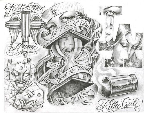 Chicano Tattoo Designs Tattoovoorbeeld Desenhos Mexicanos