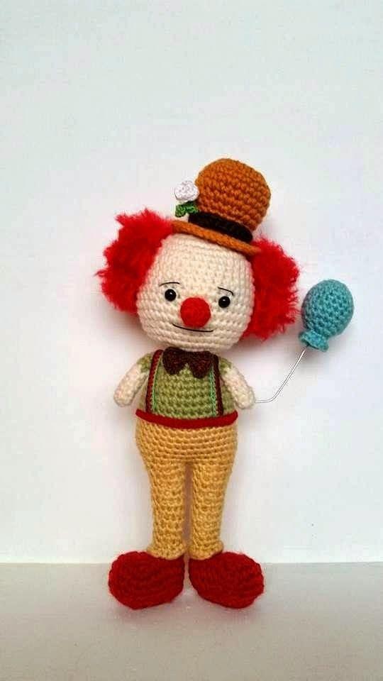 Clown Pattern Free Amigurumi Haakpatronen Pinterest Crochet