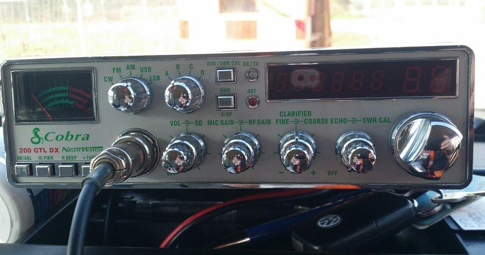 Cobra 200 GTL DX CB RADIO Cb radio, Radio, Citizens band