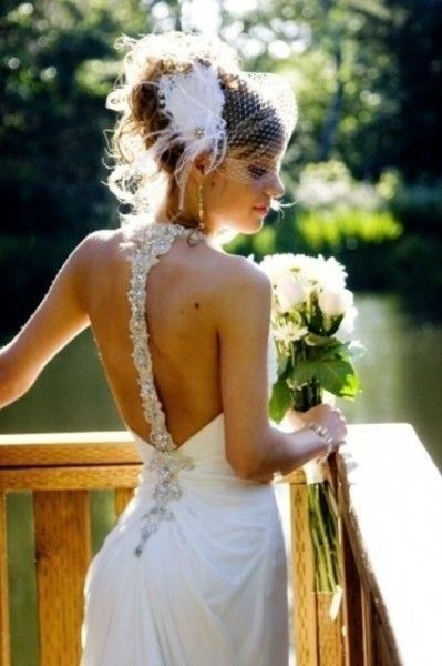 The back of the gown is gorgeous.