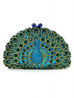 @Julia Jack This made me think of you!! You'd look amazing holding this Crystal Peacock Clutch $298.00