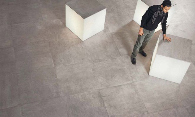 carrelage 80x80   Concrete tile floor, Flooring, Tile floor