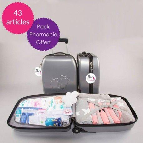 retrouvez dans notre valise le n cessaire pour la naissance d 39 un b b fille la valise maternit. Black Bedroom Furniture Sets. Home Design Ideas