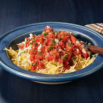 Cheesy Spaghetti Squash with Tomato Sauce - Rachael Ray Every Day
