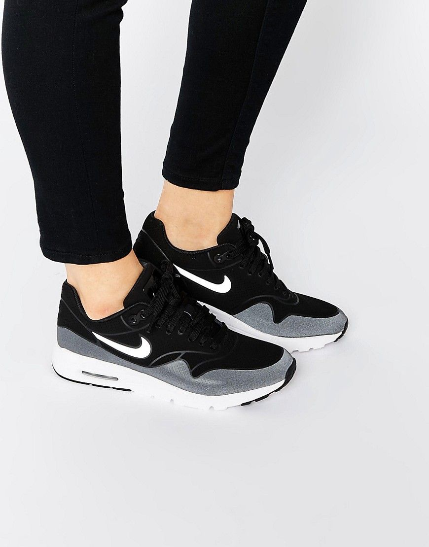 implícito Haciendo Factibilidad  Nike Black & White Air Max 1 Ultra Moire Trainers at asos.com | Black nikes,  Nike, Air max
