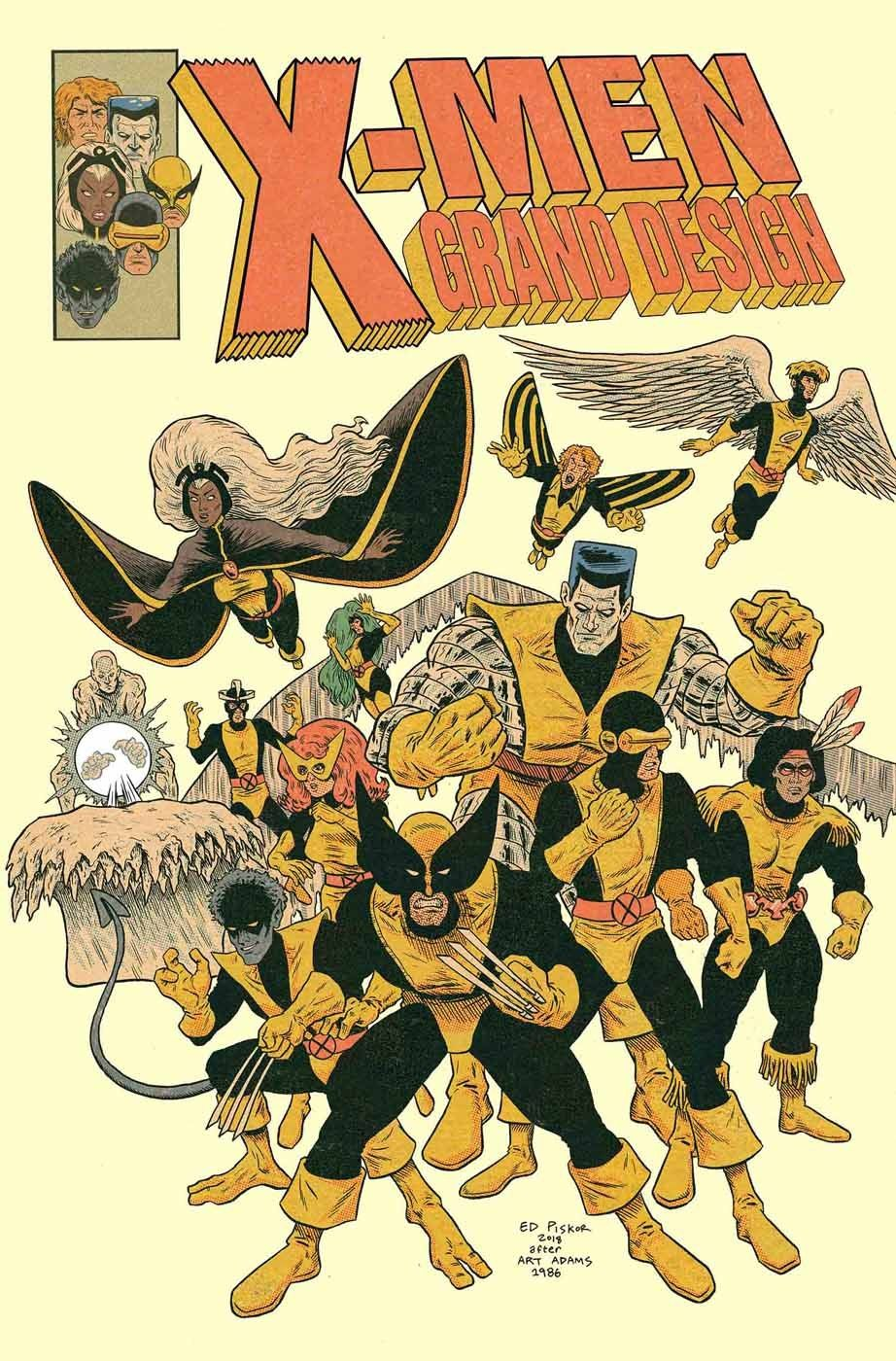 X Men Grand Design Second Genesis 1 Cover By Ed Piskor After Arthur Adams Comics Marvel Comics Art Vintage Comics
