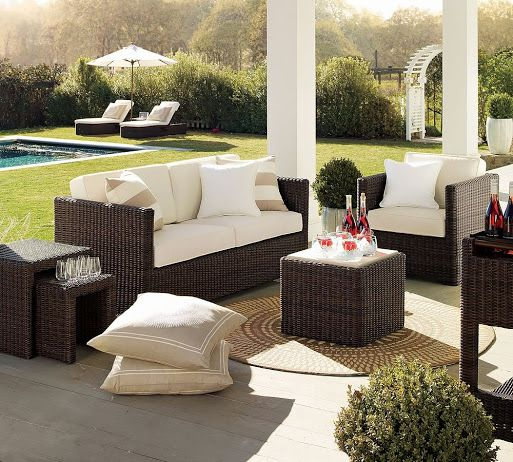How about having a backyard remodeled and furnished just like this? We could spend a whole day lazing around this comfortable setup. Would you? #homeimprovement