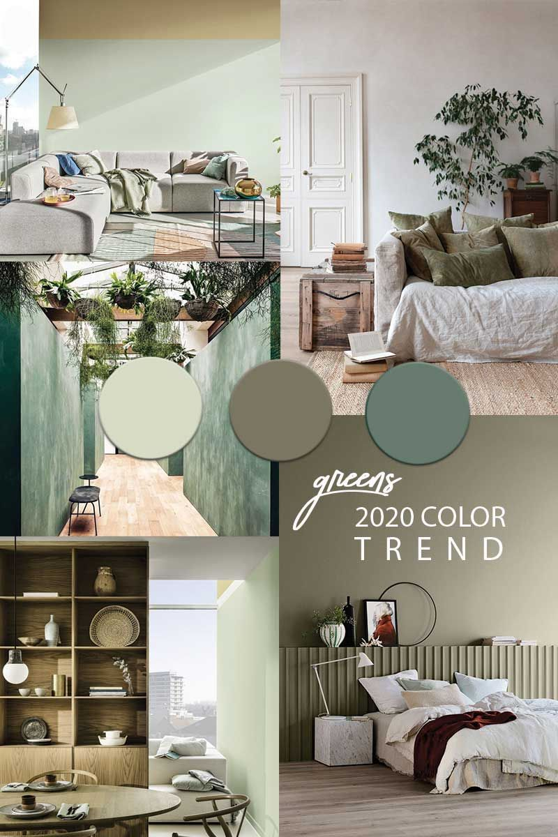 Green Wall Paint Color Trend 2020 Green Painted Walls Green