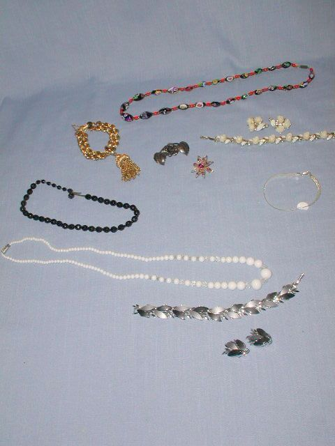 VINTAGE 11 PIECE WOMEN'S COSTUME JEWELRY LOT, STERLING, GLASS, GERMANY, MONET. FOR SALE IN MY STORE: https://www.ebluejay.com/Ads/Item/5563398