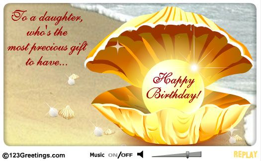 Happy birthday to my wonderful daughter bonnie stapleton with all a daughter is precious let her know on her birthday with this beautiful ecard free online wish your precious daughter ecards on birthday bookmarktalkfo Images