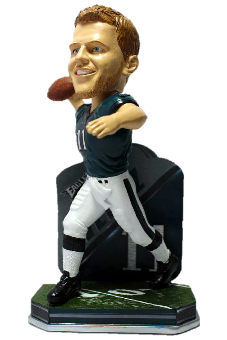 166d1ee7e1f Carson Wentz Philadelphia Eagles Limited Edition Name and Number Bobblehead