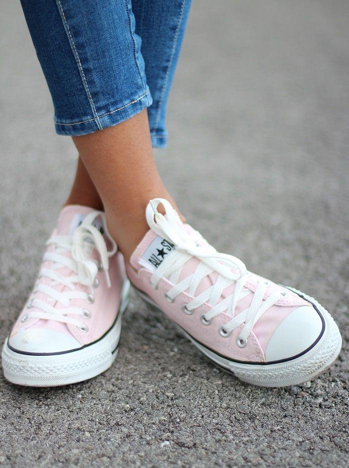 basket converse femme rose