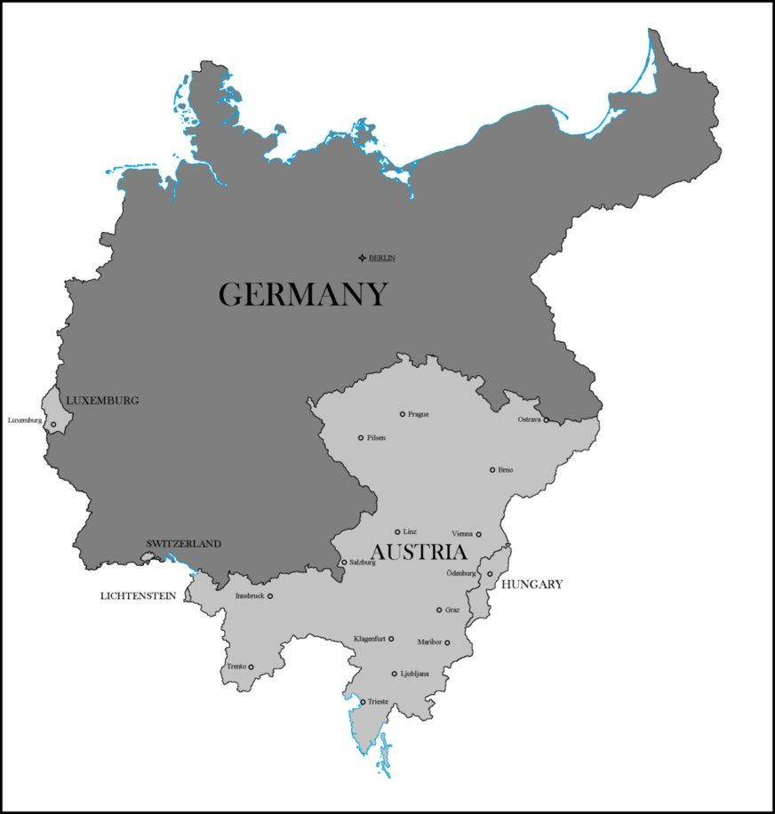 Map Of Germany And Hungary.Wwi German Victory Territorial Gains By Lehnaru On Deviantart