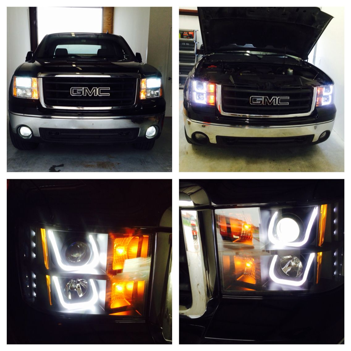 Hid Light On Factory Headlight Change To Ccfl Halo Projector With 2009 Gmc Sierra Exact Hd Lighting