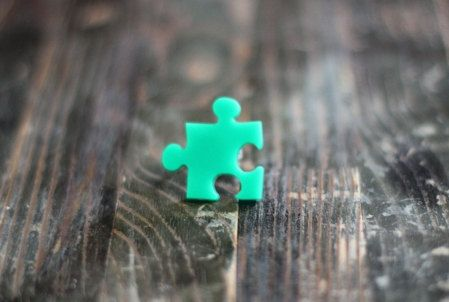 Green Puzzle Mini Ring,Plexiglass Jewelry,Lasercut Acrylic,Gifts Under 25