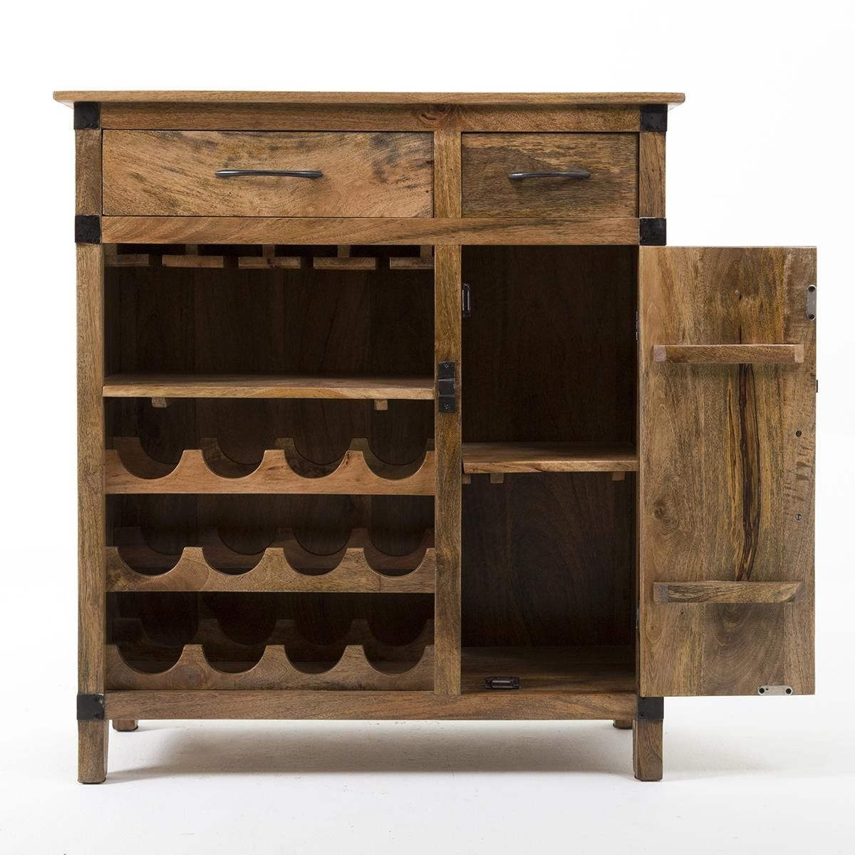wisconsin bar product wood expandable solid cabinet wine rustic storage with