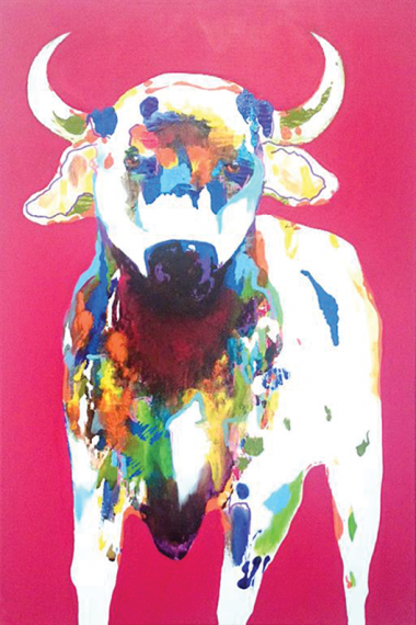 ManyungContemporary Art Australia John Giese Nelson 2014 acrylic and oil on canvas 90x60cm