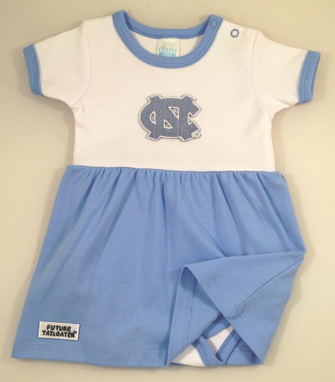 North Carolina Tar Heels Baby Onesie Dress Newborn Unc Tarheels