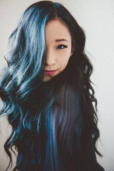 Silver Blue Hair Tan Skin Google Search Hair Color For Black Hair Black Hair Dye Hair Color Asian