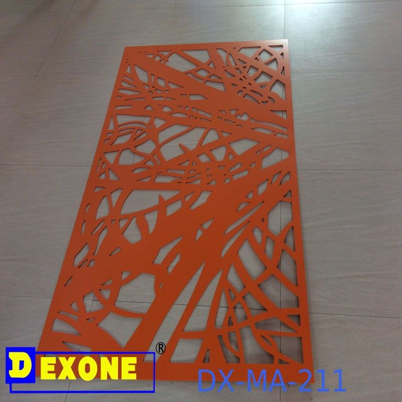 Cnc Metal Engraved Panel For Fence Screen With Garden Fence Panel Partition Screen Aluminium Perforated Laser Decorative Metal Screen Metal Panels Paneling
