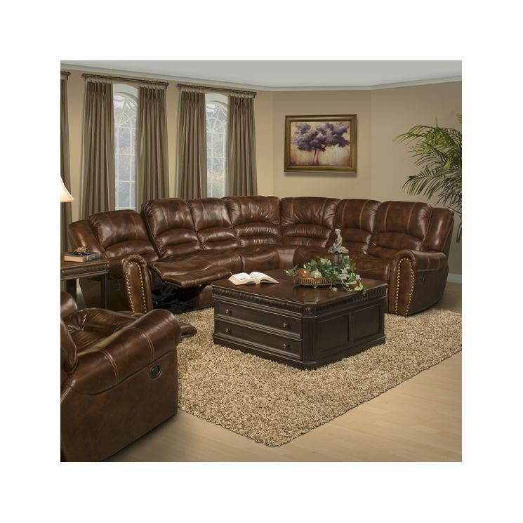 Nowicki Left Hand Facing Sectional Reclining Sectional Sectional Sofa Leather Reclining Sectional