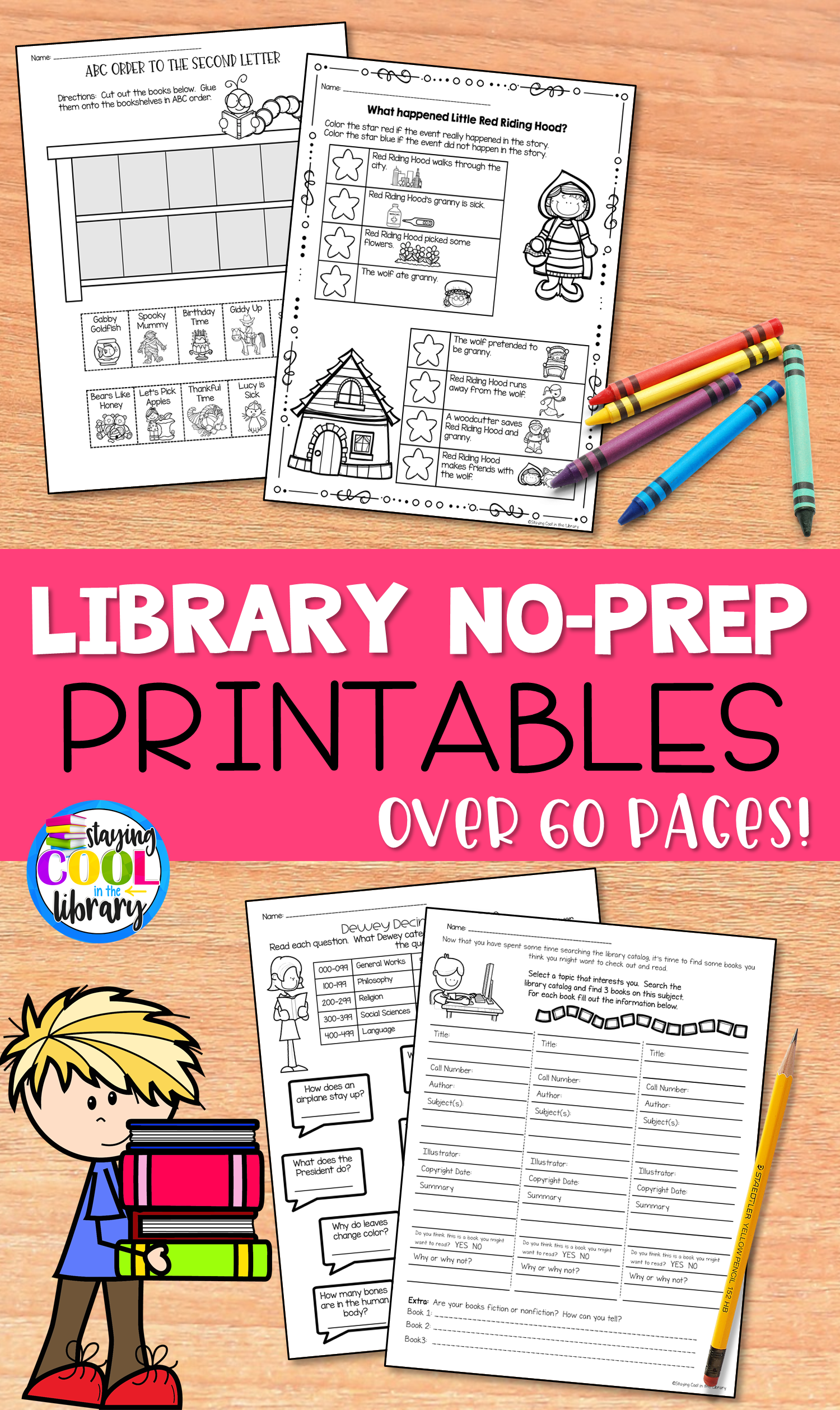 Library Skills No Prep Printables In With Images