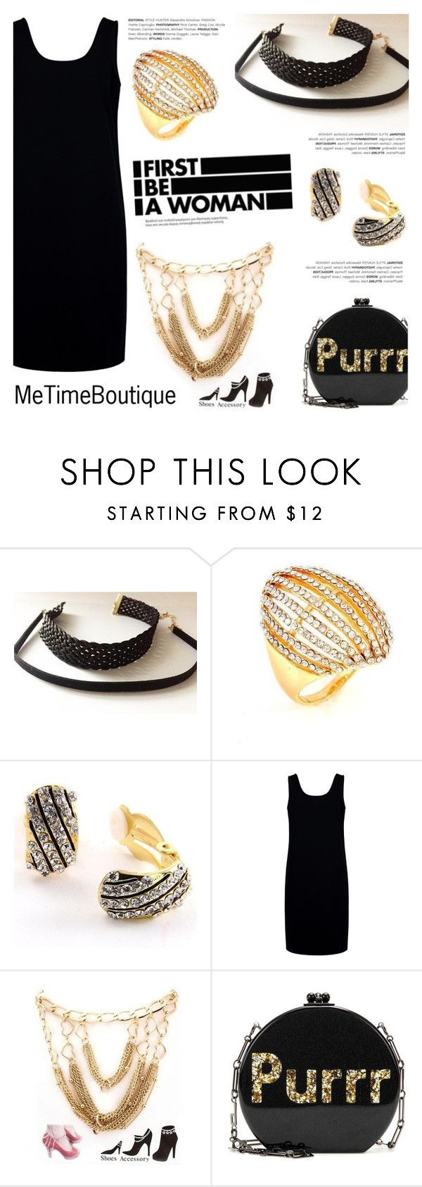 """""""First be a woman!"""" by helenevlacho ❤ liked on Polyvore featuring Être Cécile, Edie Parker and metimeboutique"""