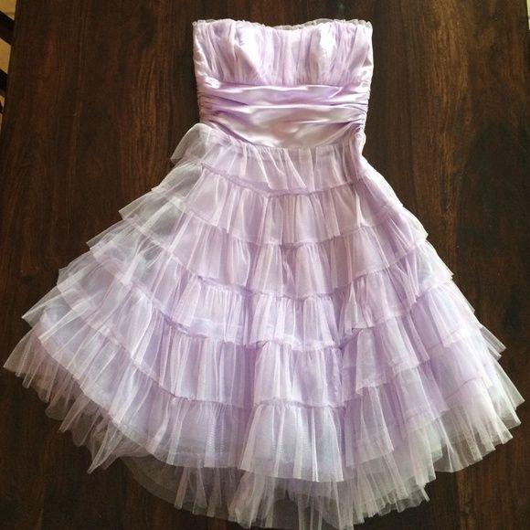 B.Darlin formal strapless dress B.Darlin formal strapless lavender dress - very girlie! B Darlin Dresses Prom