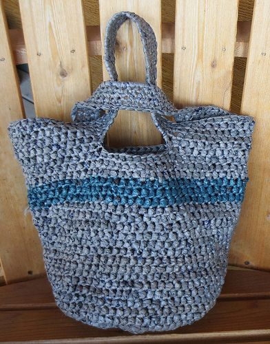 Japanese Knot Plarn Tote Bag: free crochet pattern from My Recycled ...