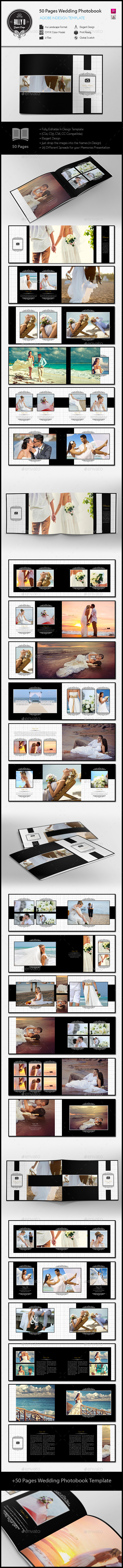 50 Pages Wedding Photobook Template | Template, Photo album printing ...